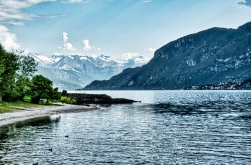 Comer See mit Berge